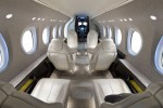 Aft forward view in the cabin inside the Cessna Citation Latitude. (Rendering by Cessna)