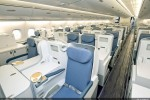 China Southern Airlines unveiled its spacious and comfortable A380 cabin, featuring a total of 506 seats in a typical three class configuration, including 70 lie-flat business-class seats.