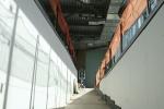 Inside a new gate/jetway walkway.