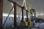 A new structure under construction in the Delta portion of the terminal.