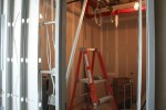This will be one of the several showers and massage rooms in the new Sky Club.