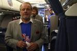 Rod Gilbert and Ron Duguay board the plane. (Photo by Matt Molnar/NYCAviation)