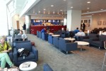 Various seating options throughout the well-designed Sky Club.
