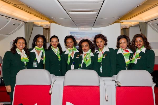 Ethiopian flight attendant crew