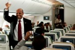CEO Ato Tewolde gives a toast before taking off. (Photo by Jeremy Dwyer-Lindgren)