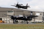 A beautiful formation take off with the F8 Bearcat and F7 Tigercat during Vintage Aircraft Weekend at Paine Field, which was hosted by HFF.