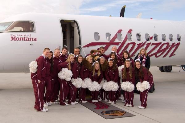 University of Montana cheerleaders