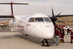 Deplaning the newly painted Dash 8