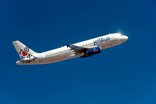 "JetBlue\'s ""I Heart Blue York\"" Airbus A320"