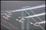 Geico Sky Typers in formation over the Verrazanno Narrows Bridge. (Photo by Scott Snorteland, srsimages.com)