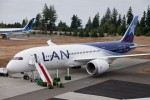 LAN's first Boeing 787-8 Dreamliner. (Photo by Dan King/NYCAviation)