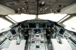 Flight deck of the LAN Airlines Dreamliner. (Photo by Dan King/NYCAviation)
