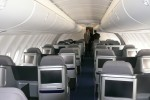 Lufthansa Boeing 747-8I upper deck business class cabin. (Photo by Chris Sloan/Airchive.com)