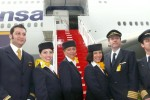 Lufthansa 747-8I delivery flight crew. (Photo by Chris Sloan/Airchive.com)
