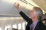 Overhead bins in Business Class on the main deck. (Photo by Chris Sloan/Airchive.com)