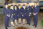 Lufthansa crew. (Photo by Chris Sloan/Airchive.com)