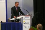Lufthansa CEO Dr. Christoph Franz at the ceremonial signing of the delivery paperwork. (Photo by Chris Sloan/Airchive.com)