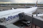 Lufthansa's first Boeing 747-8I at the gate in Frankfurt. (Photo by Chris Sloan/Airchive.com)