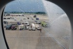 Water cannon salute at Dulles. (Photo by Chris Sloan/Airchive.com)