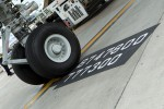 747-800 markings on the tarmac at Dulles. (Photo by Cary Liao/NYCAviation)