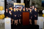 The crew of Lufthansa Flight 400. (Photo by Eric Dunetz/NYCAviation)
