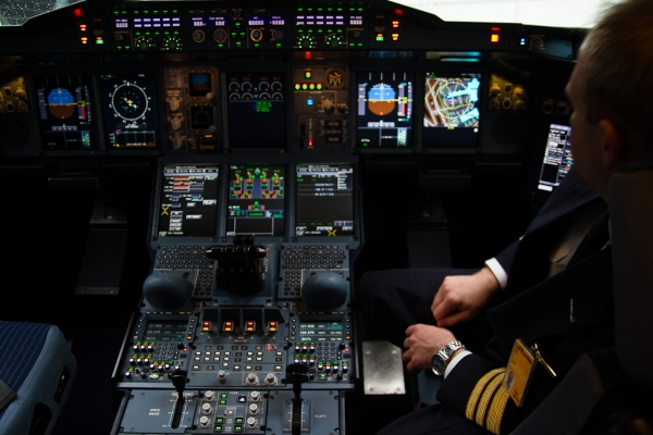 On the flight deck. (Photo by Eric Dunetz/NYCAviation)