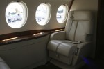 Onboard the Dassault Falcon 7X.