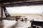 In the hangar. (Photo by Air New Zealand)