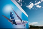 Airbus A330 art on facade. (Photo by Airbus)