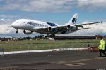 Malaysia Airlines Airbus A380 landing.  (Photo by Airbus)