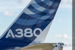 Airbus A380 tail. (Photo by Airbus)