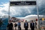 Gate B: Welcome to the Farnborough International Airshow. (Photo by Airbus)