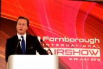 UK Prime Minister David Cameron opens the show. (Photo by Farnborough International)