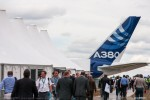 Farnborough Airshow attendees receive a first-hand look at the 21st century flagship A380. (Photo by Airbus)