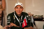 Russian F1 driver Vitaly Petrov makes an appearance. (Photo by Farnborough International)
