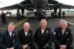 The Avro Vulcan Team. (Photo by Farnborough International)