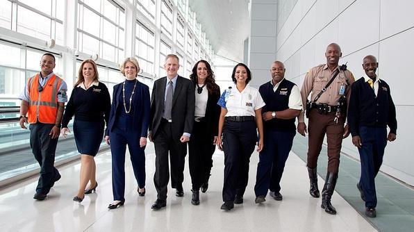 Meet the crew from Miami International Airport (L-R): Albert, Heidi, Dickie, Ken, Lauren, Ericka, Darius, Stretch and Tony. (Photo by Travel Channel)