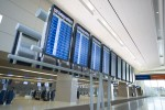 Flight information displays. (Courtesy of Clark County Department of Aviation)