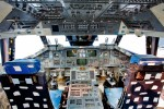 The flight deck of space shuttle simulator at the Museum of Flight in Seattle. The trainer opened to the public on November 10, 2012 to a crowd of thousands. Access to the payload bay is open to the public. The crew compartment is available by special paid tour only. (Photo by Jeremy Dwyer-Lindgren/NYCAviation)