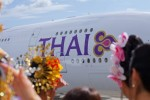 With delivery of its no. 1 A380 in Toulouse, France, Thai Airways International (THAI) became the ninth operator worldwide to receive Airbus' 21st century flagship jetliner. (Photo by JB Accariez/Airbus)