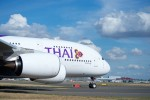THAI's first A380 jetliner is shown taxiing prior to its departure from Toulouse, France – where the double-deck jetliner was delivered by Airbus – to Bangkok, Thailand. (Photo by P. Pigeyre/Airbus)