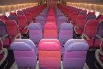 Thai Airways Economy is a 32-inch pitch x 18.5-inch wide seats. (Photo by Liem Bahneman/NYCAviation)