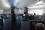 United 787 inaugural in-flight Business First. (Photo by Chris Sloan-Airchive.com)