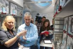 United CEO Jeff Smisek in the galley. (Photo by Chris Sloan-Airchive.com)