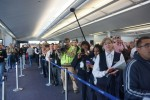 Press gathers to greet United's first 787 arrival in Chicago. (Photo by Chris Sloan-Airchive.com)