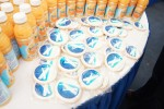 Table covered with United 787 Dreamliner cookies. (Photo by Chris Sloan-Airchive.com)