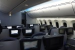 United Boeing 787 Dreamliner Business First cabin. (Photo by Chris Sloan-Airchive.com)