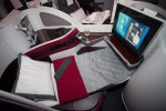 Business class seats on Qatar Airways Boeing 787 Dreamliner. (Photo by Liem Bahneman/NYCAviation)