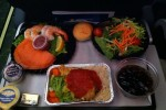 Dinner after departure from Seattle.