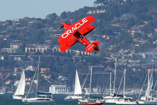 Sean Tucker\'s Team Oracle biplane.